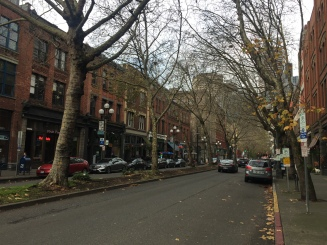 1st Avenue (photo taken last year during our trip to Seattle over Thanksgiving weekend)
